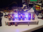 Nixie clock w/ flashing blue leds