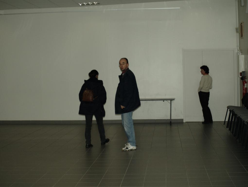 La grande salle et Christian